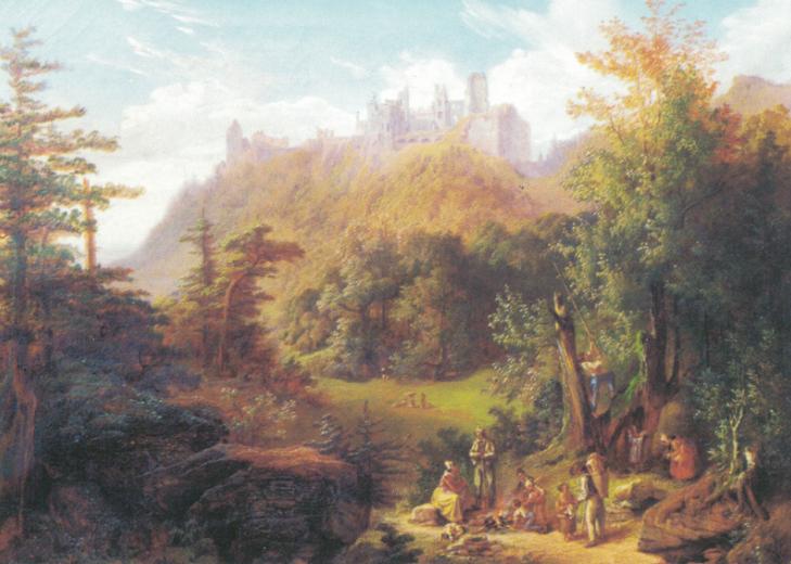 Öl auf Leinwand, 1857