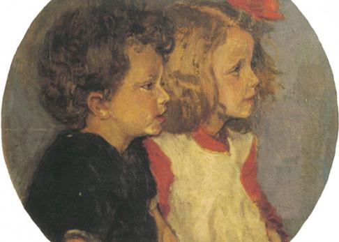 Öl auf Leinwand, um 1910