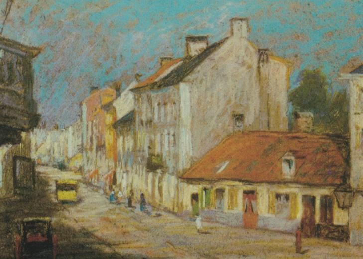 Pastell auf Papier, um 1895